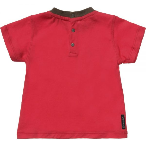 ARMANI BABY Baby Boys Red Logo T-Shirt 1