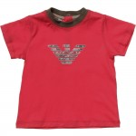 ARMANI BABY Baby Boys Red Logo T-Shirt