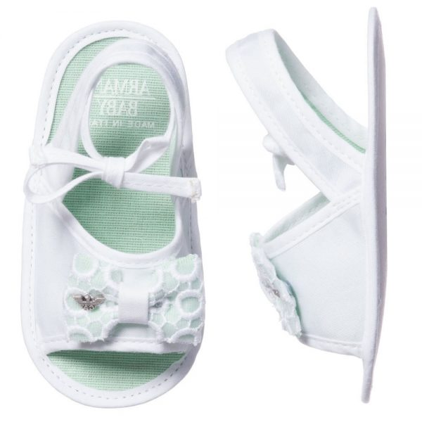 ARMANI BABY Baby Girls White Pre-Walker Sandals 2
