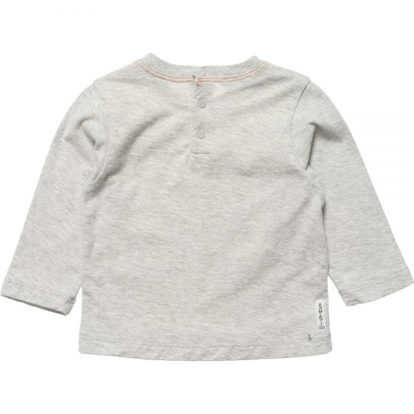 ARMANI BABY Boys Grey Cotton Jersey T-Shirt 1