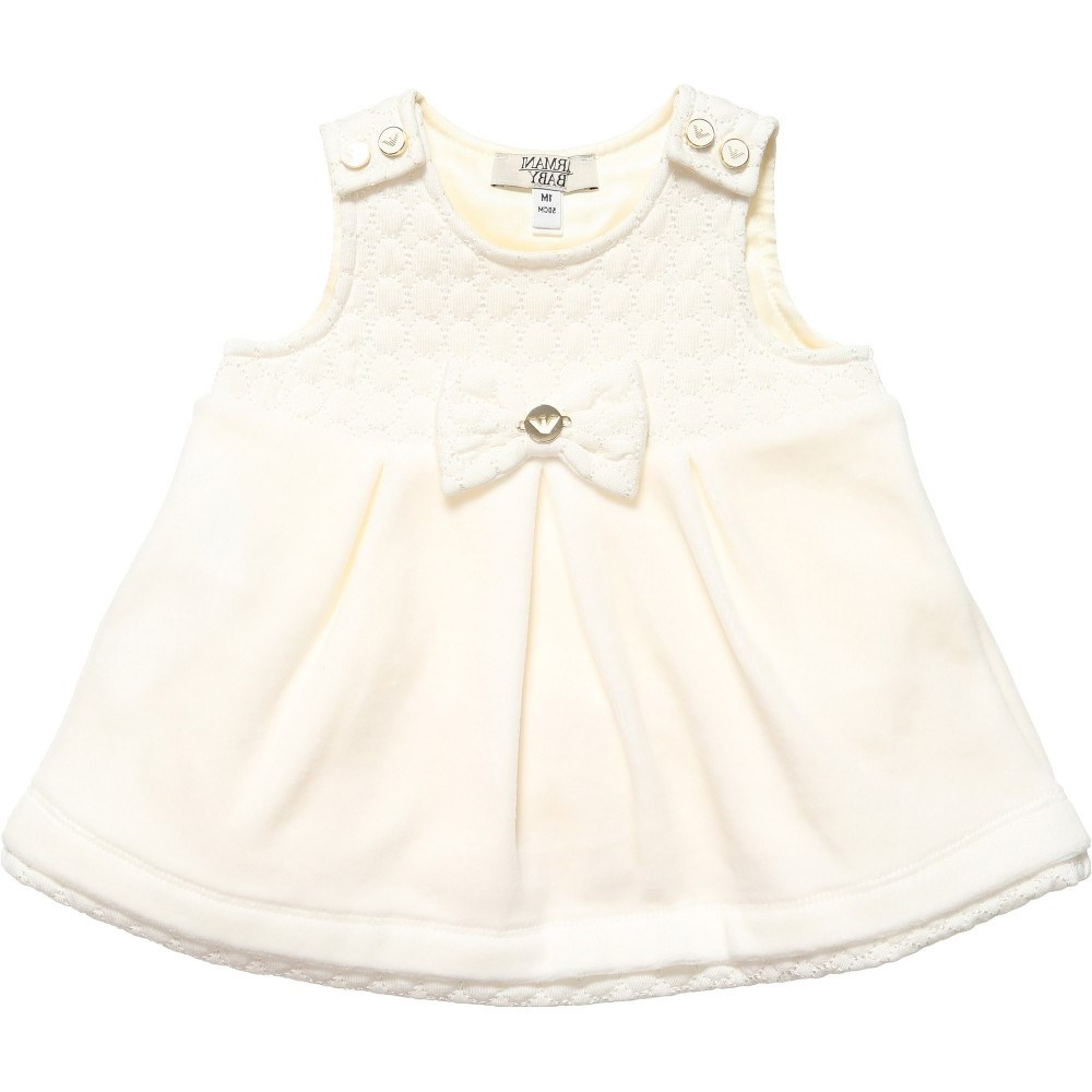 acee325708e1 ARMANI BABY Girls Ivory Dress with Bodyvest - Children Boutique