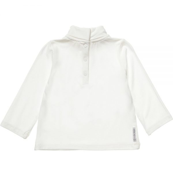 ARMANI BABY Girls Ivory Jersey Roll Neck Top 1