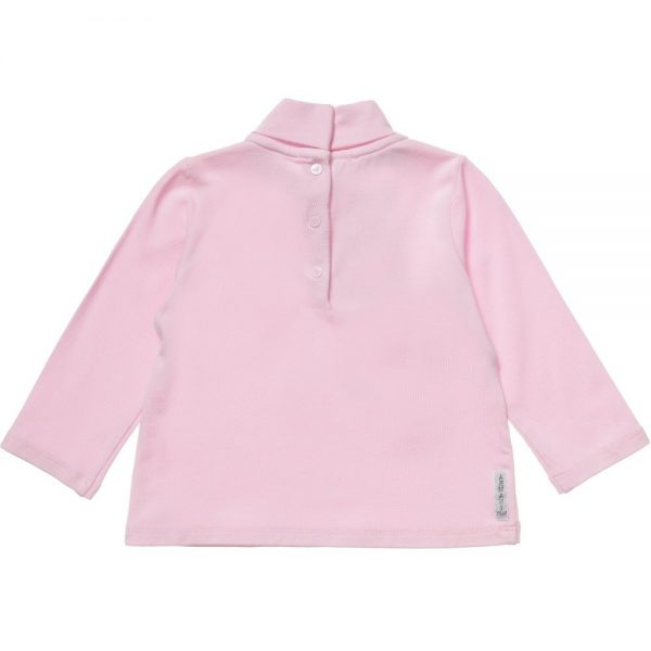 ARMANI BABY Girls Pink Jersey Roll Neck Top 1