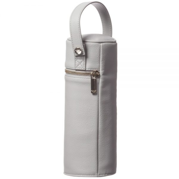 ARMANI BABY Grey Leather Bottle Holder (24cm) 1