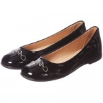 ARMANI JUNIOR Black Patent Leather Logo Pumps