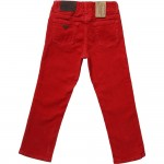 ARMANI JUNIOR Boys Red Corduroy Trousers 1