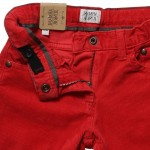 ARMANI JUNIOR Boys Red Corduroy Trousers 2