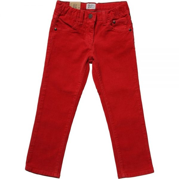 ARMANI JUNIOR Boys Red Corduroy Trousers