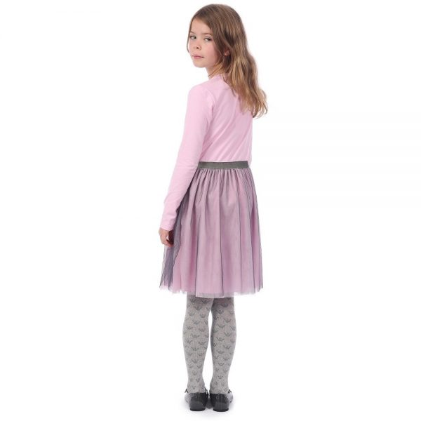 ARMANI JUNIOR Girl Pink Dress With Tulle 2