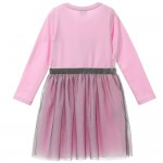 ARMANI JUNIOR Girl Pink Dress With Tulle 3