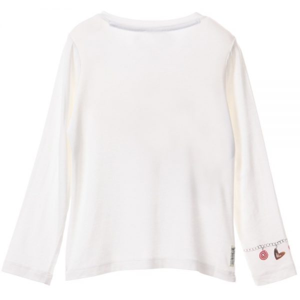 ARMANI JUNIOR Girls Ivory Charm Print T-Shirt 1