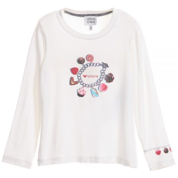 ARMANI-JUNIOR-Girls-Ivory-Charm-Print-T-Shirt