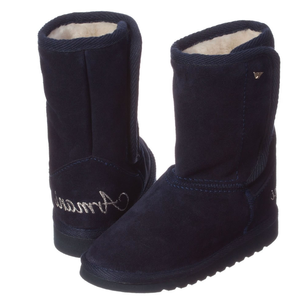 navy boots girls