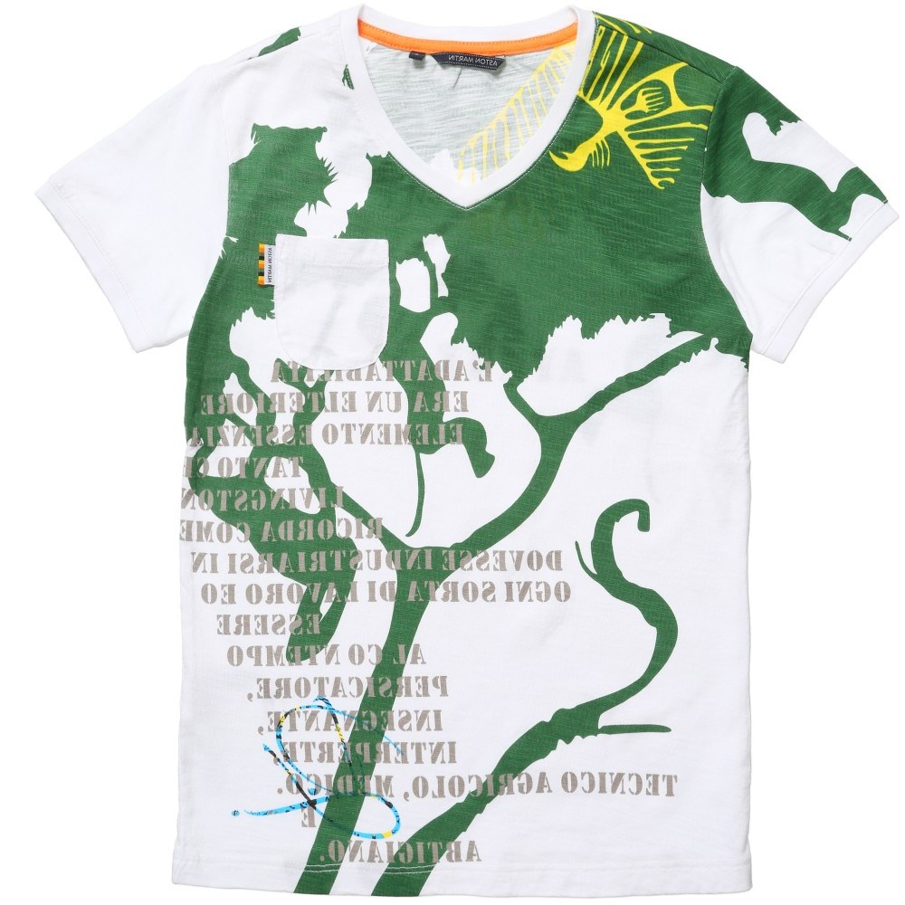 aston martin white green jungle print t shirt children boutique. Black Bedroom Furniture Sets. Home Design Ideas