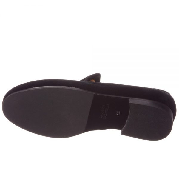 BILLIONAIRE Boys Black Velvet Loafers 2
