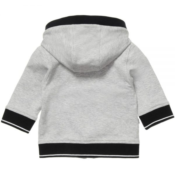 BOSS Baby Boys Grey Hooded Tracksuit 2