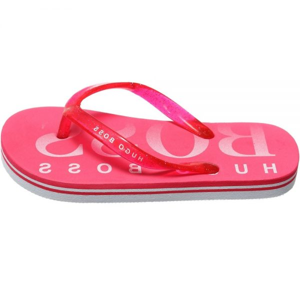 BOSS Girls Pink Flip-Flops 1