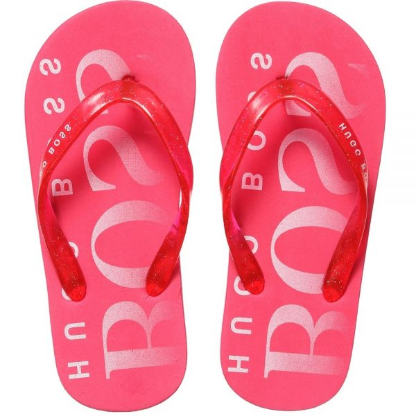 BOSS Girls Pink Flip-Flops