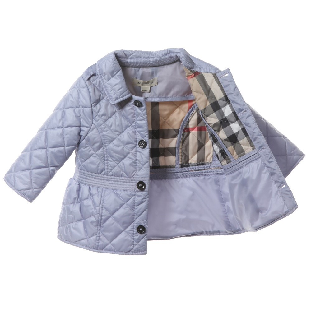 BURBERRY Girls Lilac Quilted Jacket - Children Boutique 5f9347d6297d