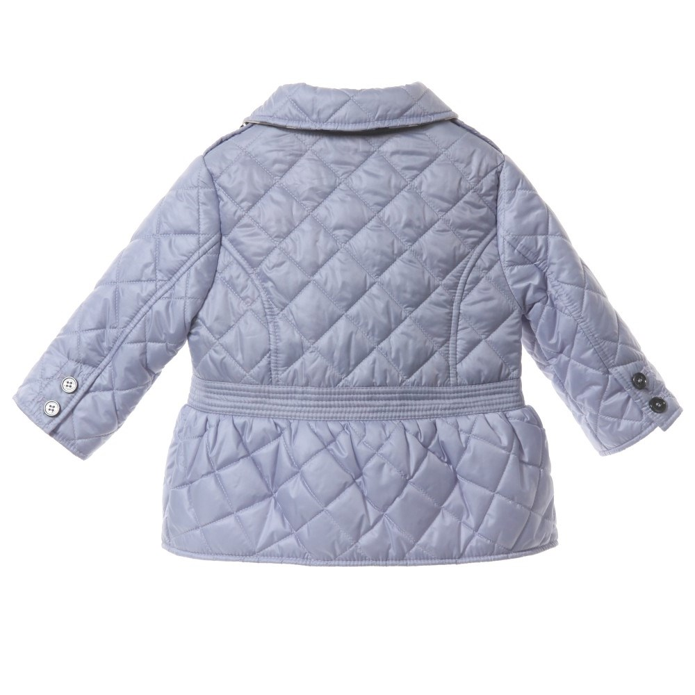 Burberry Girls Lilac Quilted Jacket Children Boutique