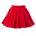 BURBERRY Girls Red Cotton Wrapover Skirt 1