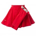 BURBERRY Girls Red Cotton Wrapover Skirt 3