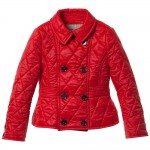 BURBERRY Red Diamond Quilted Jacket 1