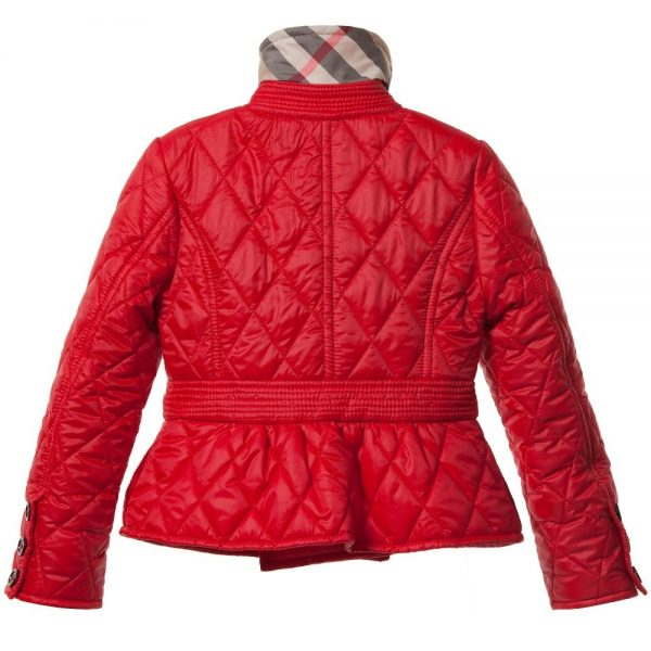 BURBERRY Red Diamond Quilted Jacket 2
