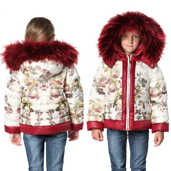 CANZITEX Ivory Quilted Floral Down Padded Jacket 1