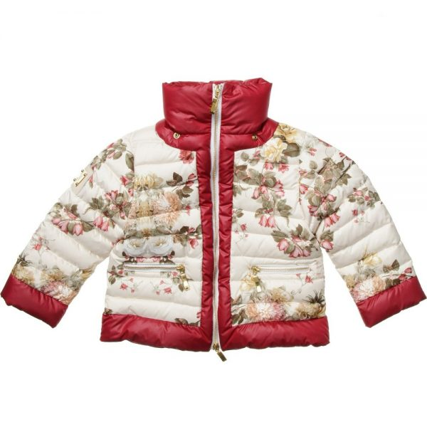 CANZITEX Ivory Quilted Floral Down Padded Jacket 2
