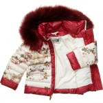 CANZITEX Ivory Quilted Floral Down Padded Jacket 3