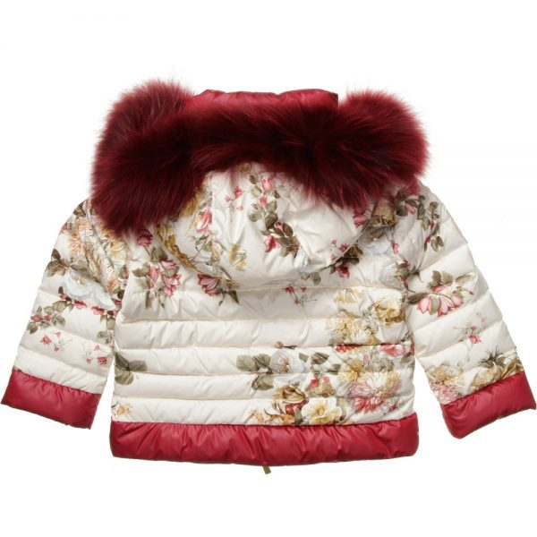 CANZITEX Ivory Quilted Floral Down Padded Jacket 5
