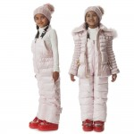 CANZITEX Pink Quilted & Down Padded Salopettes 1