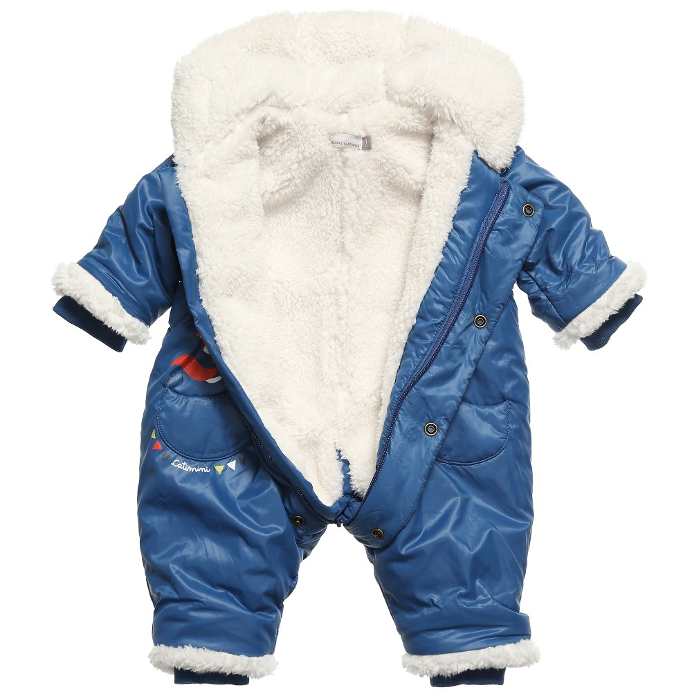 1cc633d98 CATIMINI Baby Boys Blue Padded Snowsuit - Children Boutique