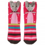 CATIMINI Baby Girls Pink Mouse Socks 2