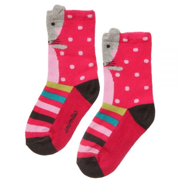 CATIMINI Baby Girls Pink Mouse Socks