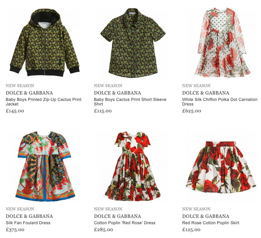 a8e07d1db5 Today you can purchase the high quality children clothes by DOLCE & GABANA  online.
