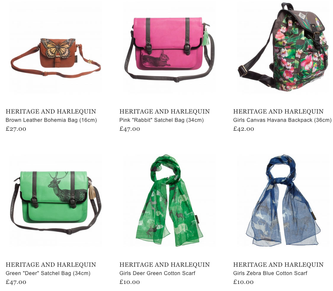Heritage and Harlequin Kids Accessories