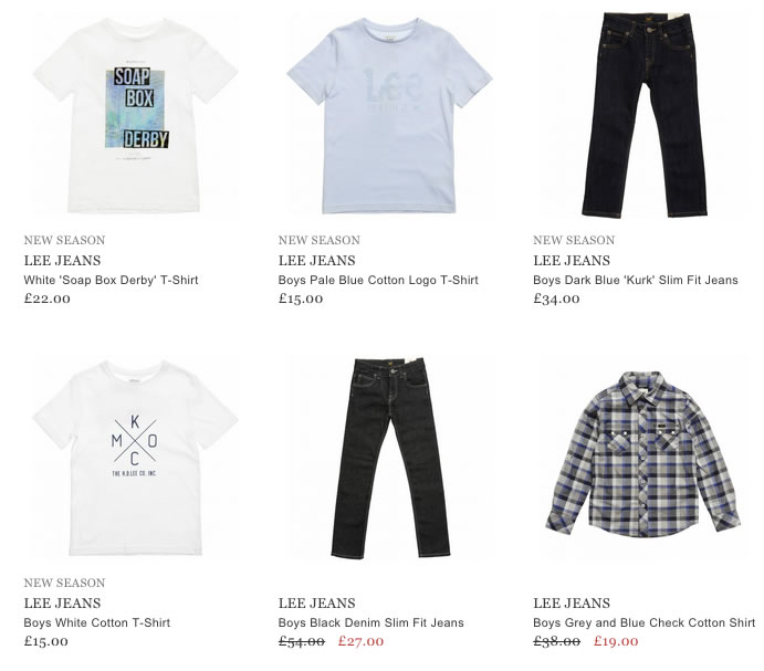 Lee Jeans Boys Clothing