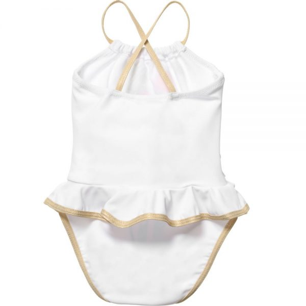 Little Marc Jacobs Baby Girls White Miss Marc Swimsuit2