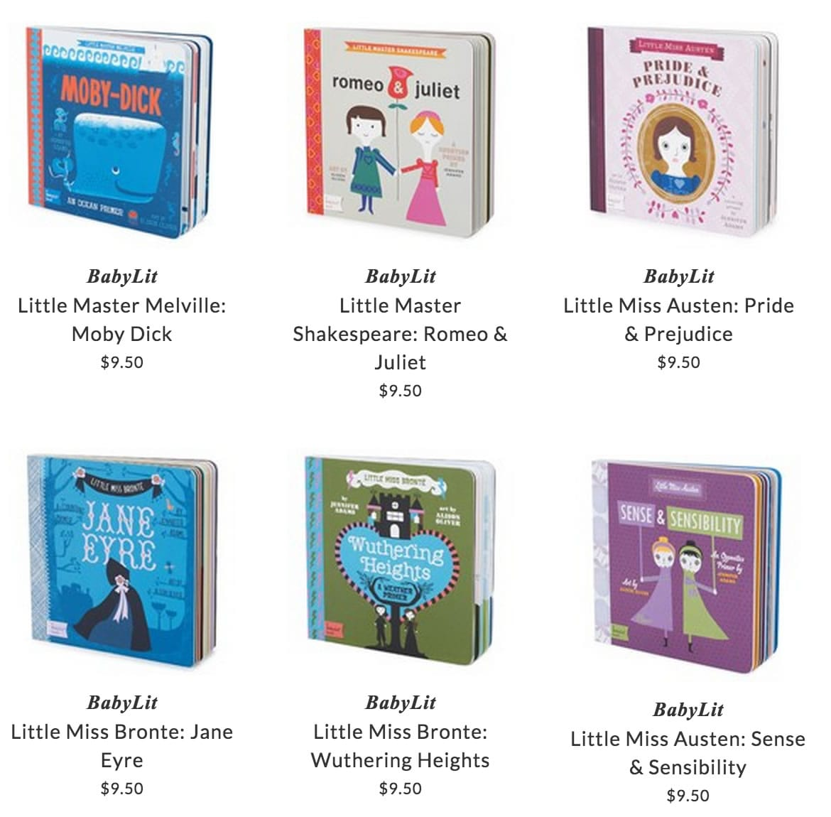 BabyLit books for babies