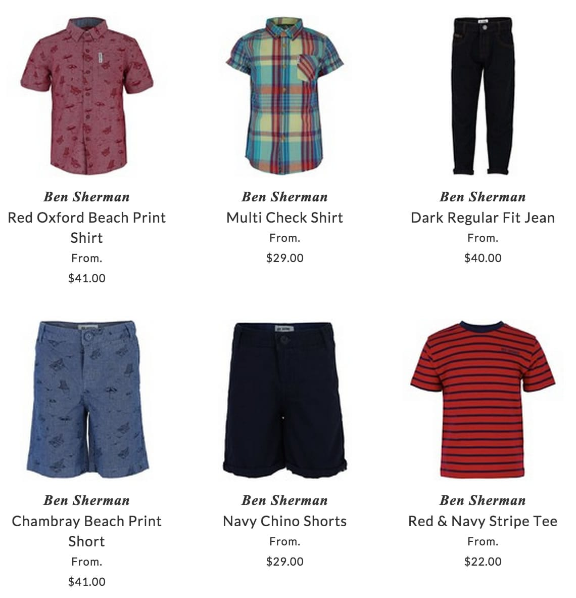Ben Sherman boys clothing
