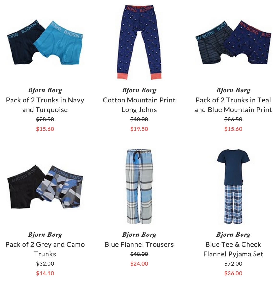 Bjorn Borg children underwear & accessories