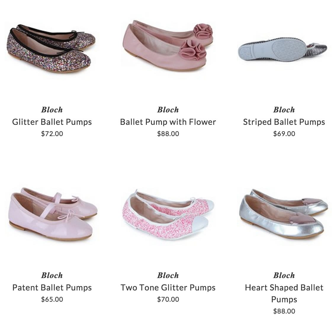 Bloch girls clothing & shoes for dancing