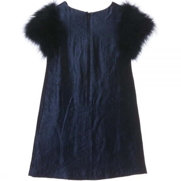 CHARABIA Navy Blue Viscose Dress 2