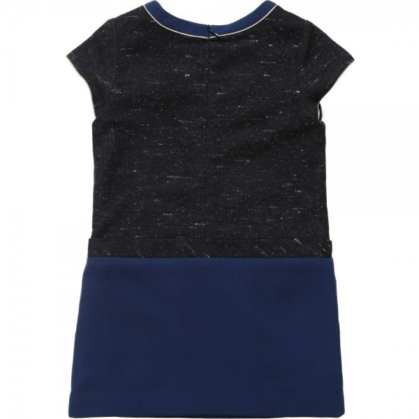 CHLOÉ Blue Tweed Colour Block Dress 1