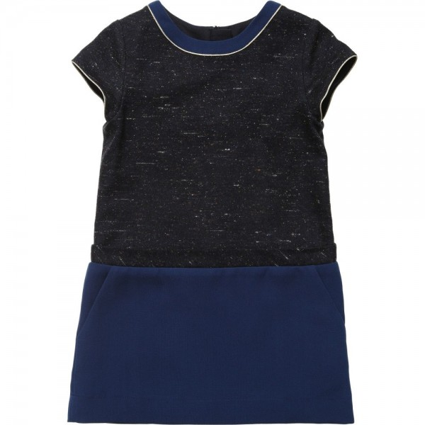 CHLOÉ Blue Tweed Colour Block Dress