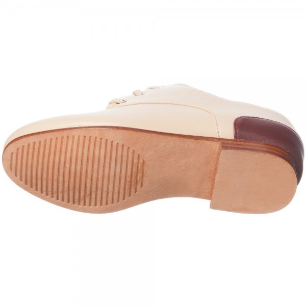 CHLOÉ Pale Peachy Pink Leather Shoes 2