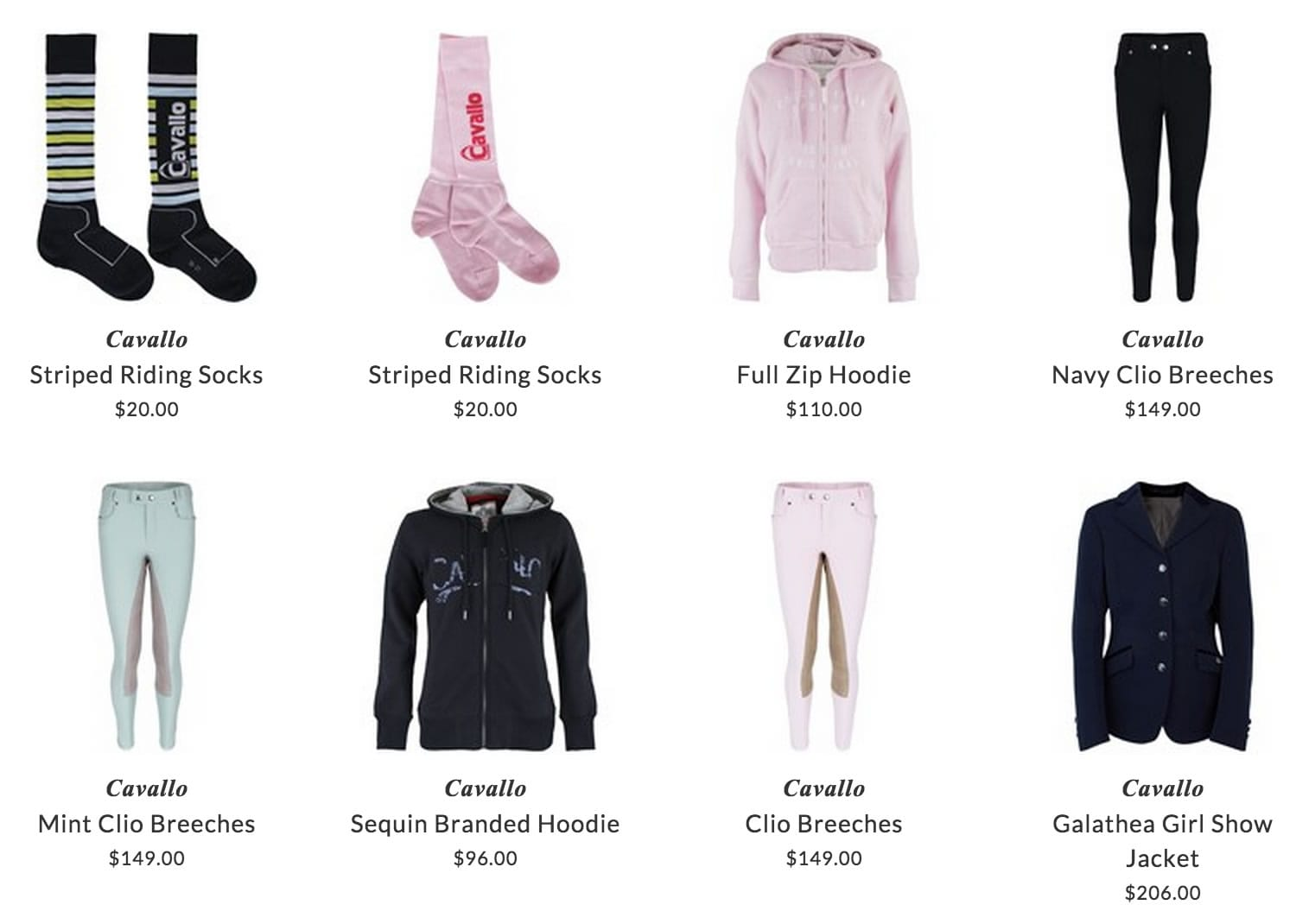Cavallo children riding clothing & accessories