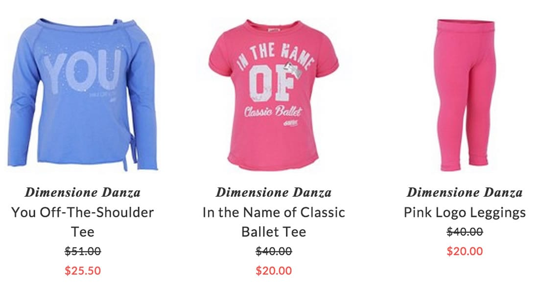 Dimensione Danza girls ballet & dance clothing
